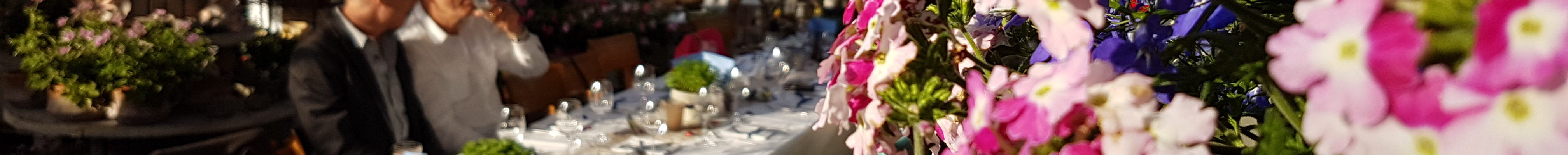 Langer Tisch im Zelt